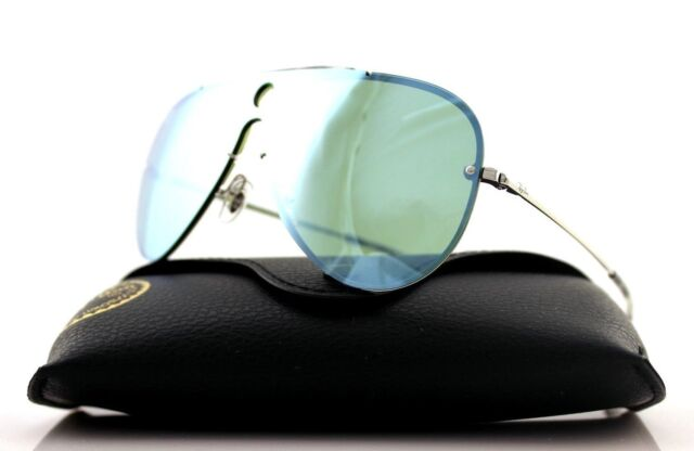 d165bef529924 NEW Authentic RAY-BAN BLAZE SHOOTER Silver Dark Green Sunglasses RB 3581N  003 30