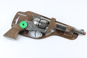 REVOLVER-COWBOY-TOY-GUN-WILD-WEST-GONHER-DIE-CAST-METAL-12-SHOTS-SPAIN-10-039-039-long