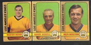 LOT-OF-3-OPC-CARDS-1972-HARRY-HOWELL-193-ROGATIEN-VACHON-100-RALPH-BACKSTROM
