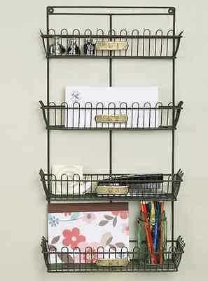 Primitive New Large Basket Wall Organizer W/brass Metal Tags/ Nice Wall  Storage