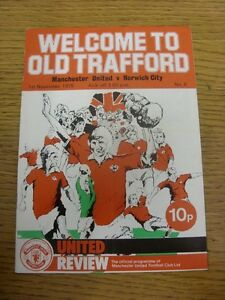 01-11-1975-Manchester-United-v-Norwich-City-Creased-Folded-Token-Removed-T