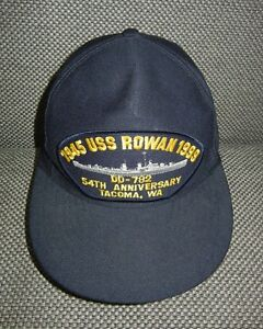 e896adc0744c4 USS ROWAN DD-782 Tacoma Navy Ship NAVAL HAT Military Destroyer ...
