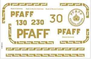Pfaff Model 30 130 Sewing Machine Restoration Decals