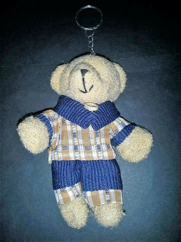 Active New: Multi-color, Brown Color, Blue, Medium Size, Male Teddy Bear Key Chain Elegant In Style