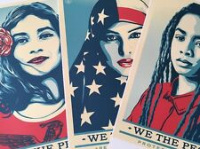 Shepard Fairey We The People (3pc. Set) Lithograph Print Large Print