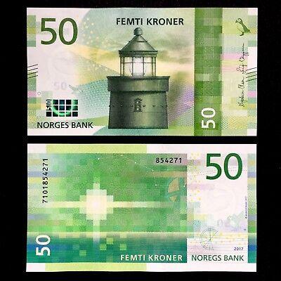 Norway 50 Kroner 2017 Lighthouse//p New UNC