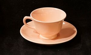 Vintage-1940-039-s-Pastel-Springtime-Pink-Cup-amp-Saucer-Set-By-LuRay-Great-For-Easter