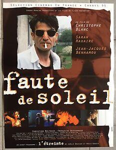 Affiche-FAUTE-DE-SOLEIL-Christophe-Blanc-SARAH-HAXAIRE-40x60cm