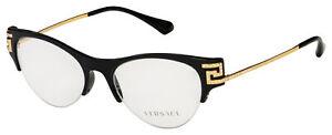 Versace-Eyeglasses-VE-3226B-GB1-51-Black-Gold-Frame-51-18-140