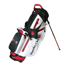 Founders Club Waterproof Golf Stand Bag With 14 Way Top -light Weight - White