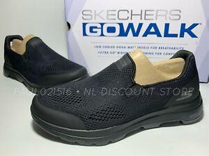 SKECHERS Men's Go Walk Air Cooled Ultra Go Cushioning Shoes ~ Black ~ Pick Size