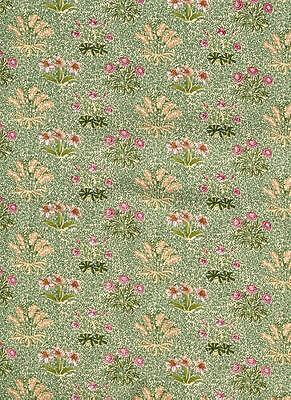 Rare British ROSE & HUBBLE Art Nouveau WILLIAM MORRIS Fabric Maidens BOTANICAL