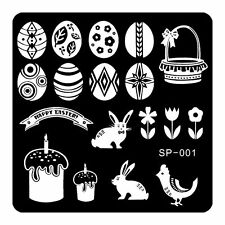 EASTER Egg Nail Stamping Plates Stamp Nail Art Template Manicure Tools SP01