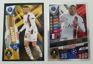 2020-Kylian-Mbappe-100-Club-Soccer-Card-Shiny-World-Star-W5-PSG-Match-Attax-101