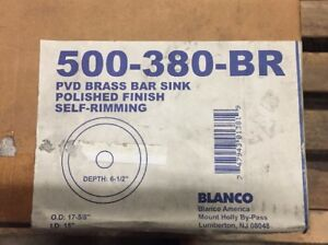Image Is Loading Blanco Decorative Bar Sink P V D Br Finish 500