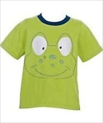 BOYS CHAD VALLEY GREEN CUTE FROG FACE SHORT SLEEVED T-SHIRT TOP 3-4  YEAR  NEW
