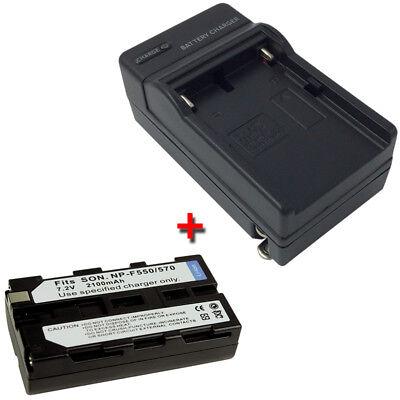 Batería CARGADOR PARA SONY mvc-fd-81 fd-83 fd-85