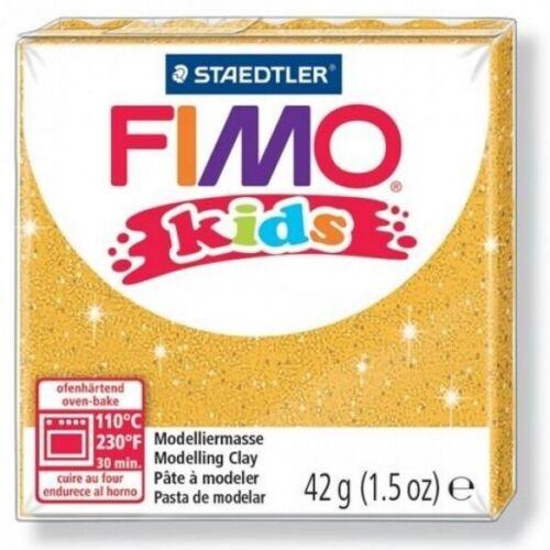 Pâte FIMO Kids Or Pailleté n°112-42gr Neuf