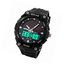 Hiwatch Boy Sports Watch for Kid Solar PowerLED Digital Waterproof Watch with St
