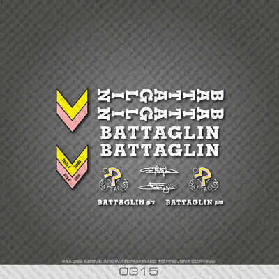White n.12 Stickers Battaglin Bicycle Decals Transfers