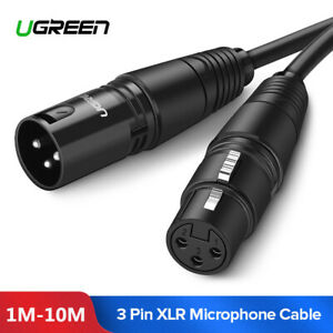 Ugreen-Cable-Microphone-XLR-3-broches-Male-vers-XLR-Femelle-pour-HiFi-Amplifiees