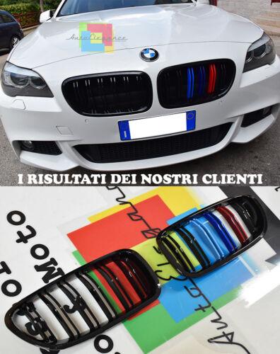 GRIGLIE ANTERIORI LOOK M5 CALANDRA DOPPIA STRISCIA BMW SERIE 5 F10 F11 2010