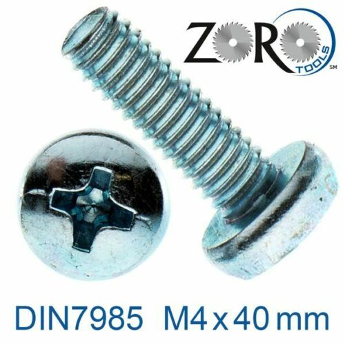 24665040040 Gewindeschrauben Linsenkopf M4x40 verzinkt 4.8 DIN7985