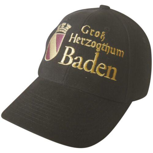 BASEBALLCAP CAP BERRETTO muetze NERO M Stick Gross Herzogthum Baden STEMMA 68943