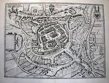 Antique map, Die stat Swybuschin in nider Schlesien