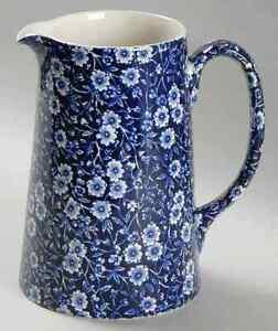 Staffordshire-CALICO-BLUE-BURLEIGH-STAMP-Tankard-Jug-1980330