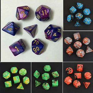 7Pcs-TRPG-Wuerfel-Set-Multi-sided-Dungeons-Wuerfelset-Wuerfelspiel-G