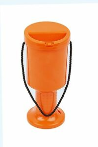 25-NEW-Hand-Held-Orange-Plastic-Collection-Boxes-Donation-Charity-Fundraising