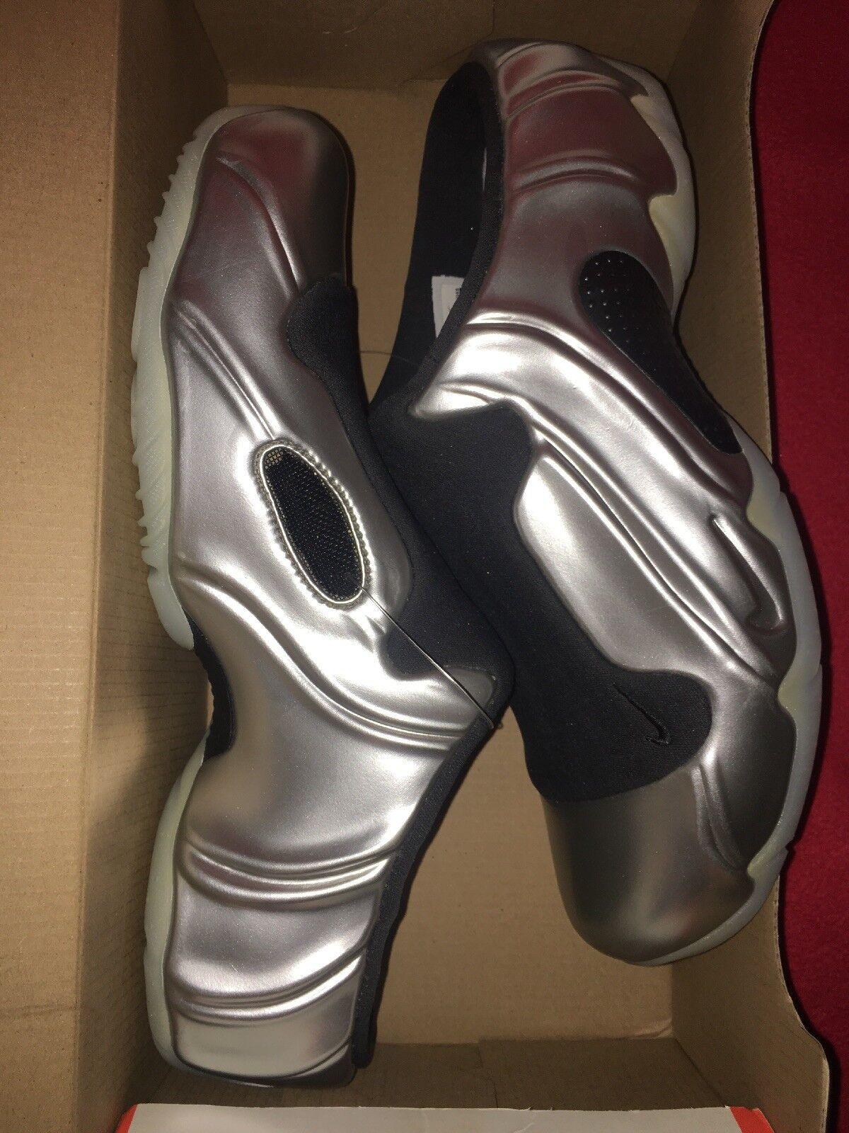 "New Men Nike Solo Slide Clogposite ""Metallic Silver"" Sz 9 Silver 644585-002 RARE"