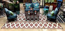 Deal.. Outdoor Rug 9' X 12' Camping picnic patio mat Indoor rugs Reversible