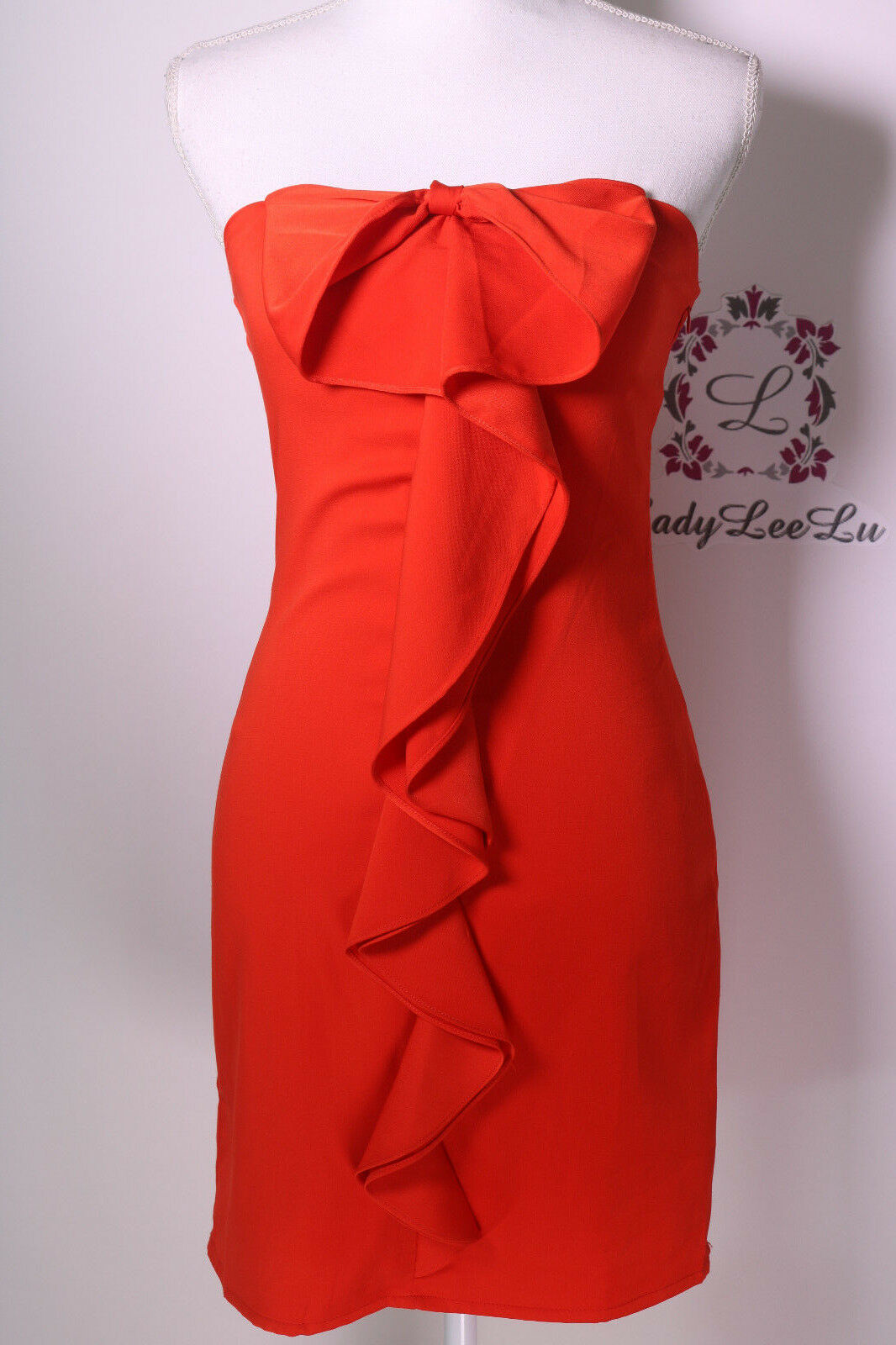 Gianni Bini Cameron Bow Front Sheath Dress Size Red S New NWT