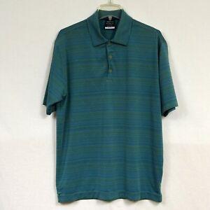 Nike-Golf-Standard-Fit-Dri-Men-039-s-Polo-Shirt-Size-L-Large-Green-Blue-Striped