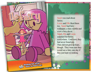 Personalised-children-039-s-story-book-THE-FAIRY-Kids-own-name-and-two-friends