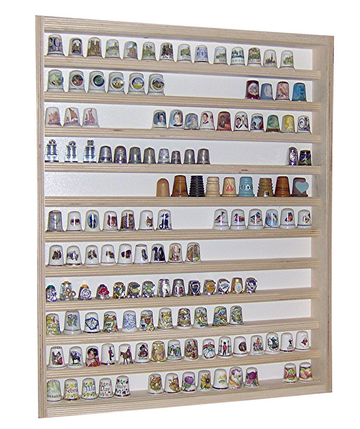 V75 - Vitrine murale 41 x 52 x 5 cm collection miniature collecteur dé à coudre
