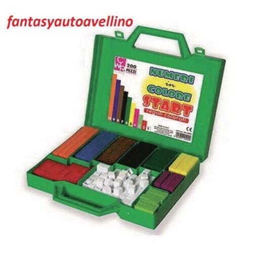 Regoli cwr valigetta da 200 pz numeri in colore imparare a contare