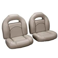 4 Piece Bass Boat Seats Tan, with Black Accent