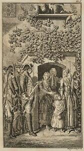 Chodowiecki (1726-1801). espulsione della famiglia dal parrocchiale; 2