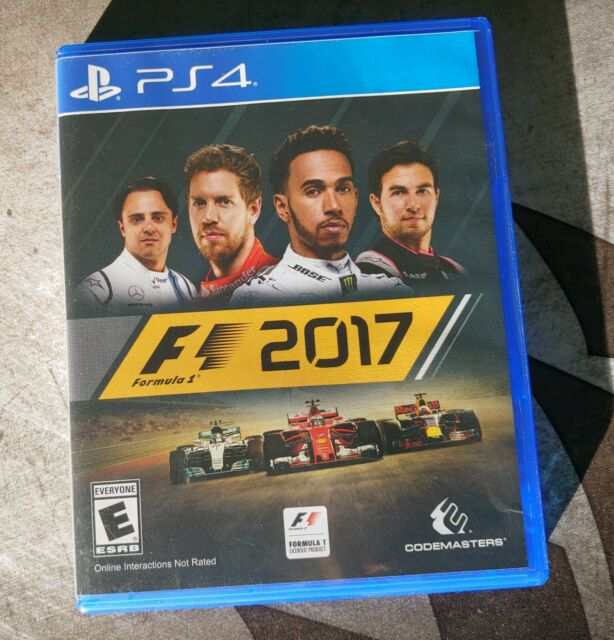 F1 2017 FORMULA 1 PS4 PLAYSTATION VIDEO GAME CODEMASTERS