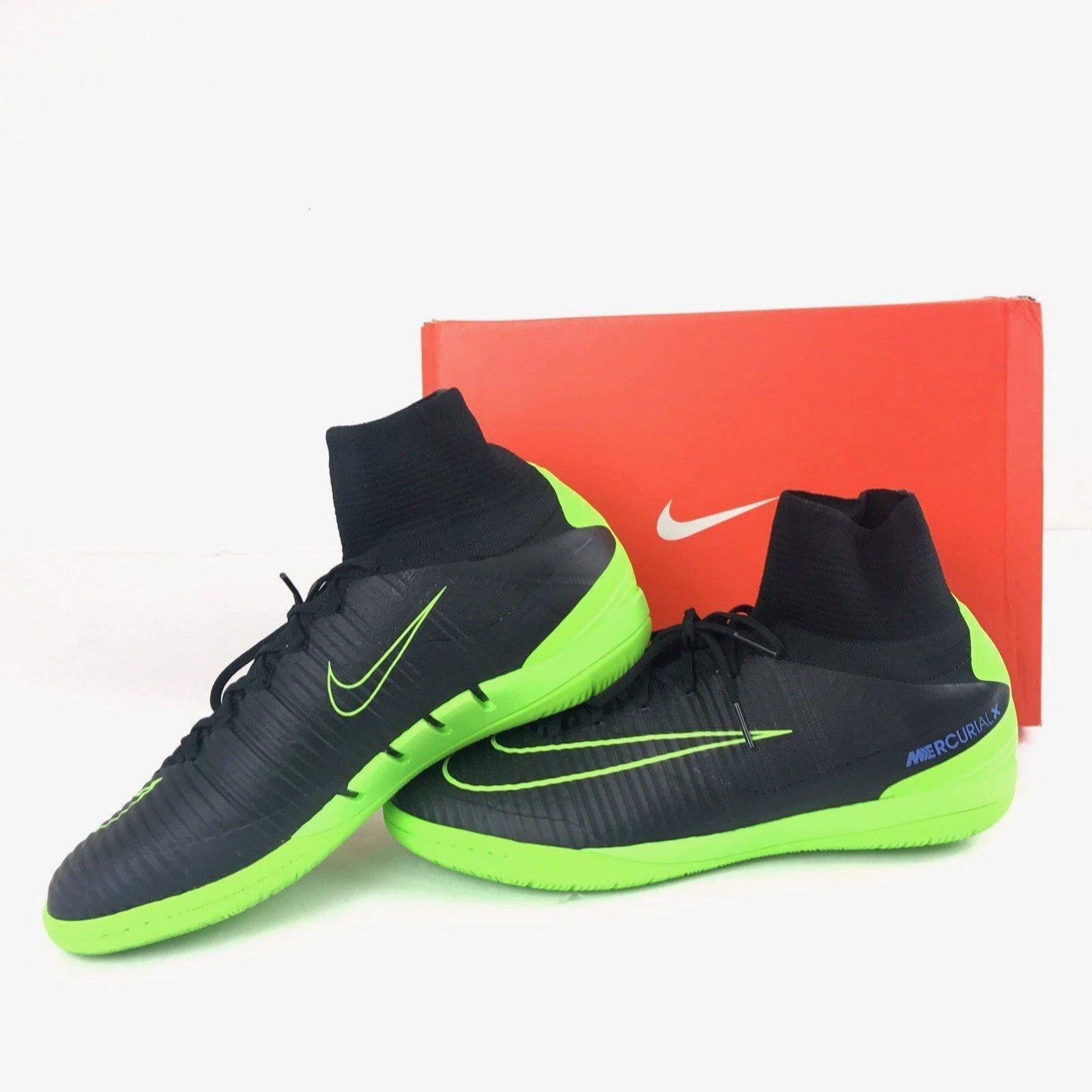 Nike Mercurialx Proximo II Ic Fútbol Indoor Zapatos Negros 831976-034 Talla 10.5
