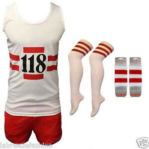 MENS-LADIES-118-FANCY-DRESS-RED-WHITE-VEST-SHORTS-SOCKS-WRISTBAND-COSTUME