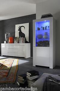 Vetrina mobile con 1 anta in vetro moderno credenza soggiorno laccato lucido a10 ebay - Mobile vetrina moderno ...