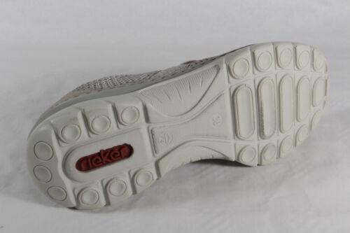 Beige Scarpe Similpelle Nuovo Basse Lacci Donna Con Rieker Sneakers Da UqR0qB