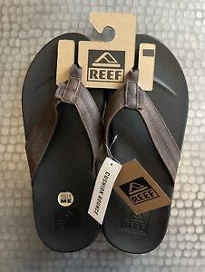 REEF-Men-039-s-Cushion-Bounce-Phantom-LE-Sandal-Leather-Black-Brown-FAST-SHIPPING