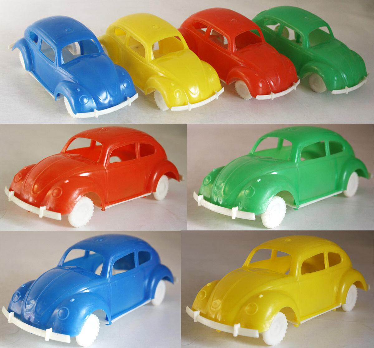 4X RARE VINTAGE 60'S MOUSTAKAS VOLKSWAGEN 1200 BUG PLASTIC VW GREEK TRUMPF NEW