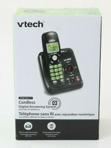 REFURBISHED Vtech CS6124-11 Black Cordless Answering System With Caller ID