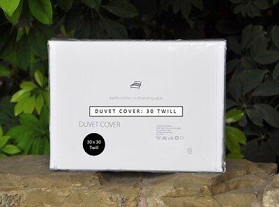 Forte Lusso 100% Cotone Egiziano Copripiumino Bianco 30 Twill Singolo Doppio King Super-mostra Il Titolo Originale Essere Accorti In Materia Di Denaro